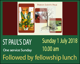St Paul's Day 2018