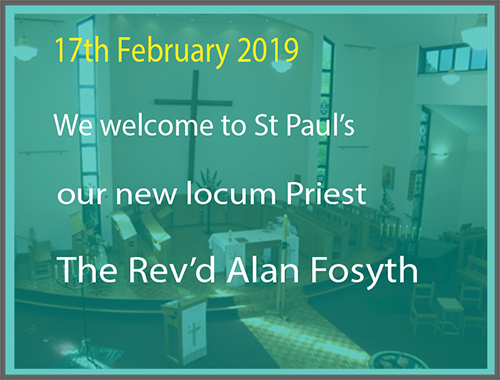 Welcome to the Rev'd Alan Forsyth