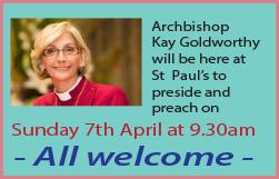 Visit by Archbishop Kay Goldsworthy on 7 April 2019